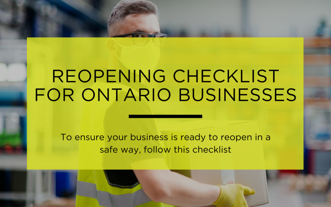 Reopening Checklist for Ontario Businesses